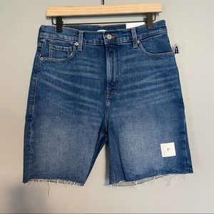 OLD NAVY Bermuda Jean shirts with distressed hem